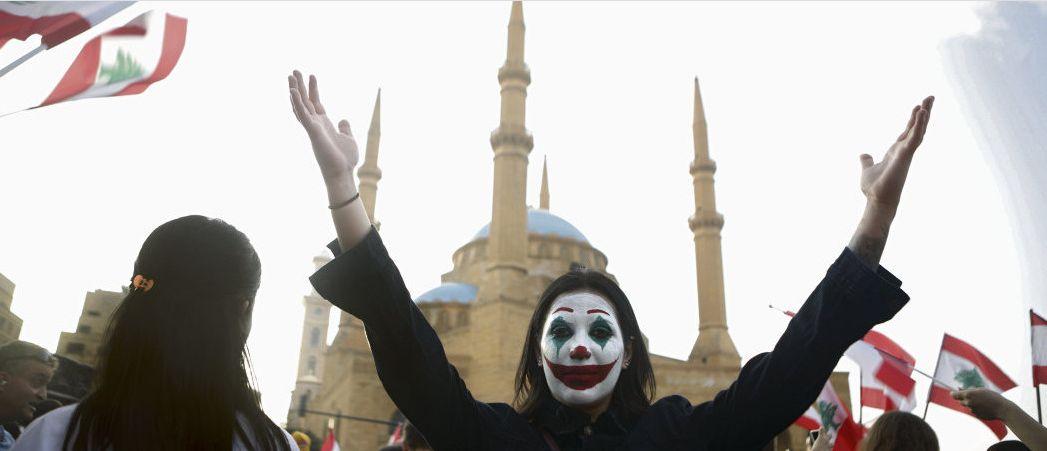 Во главе протестующих Джокер