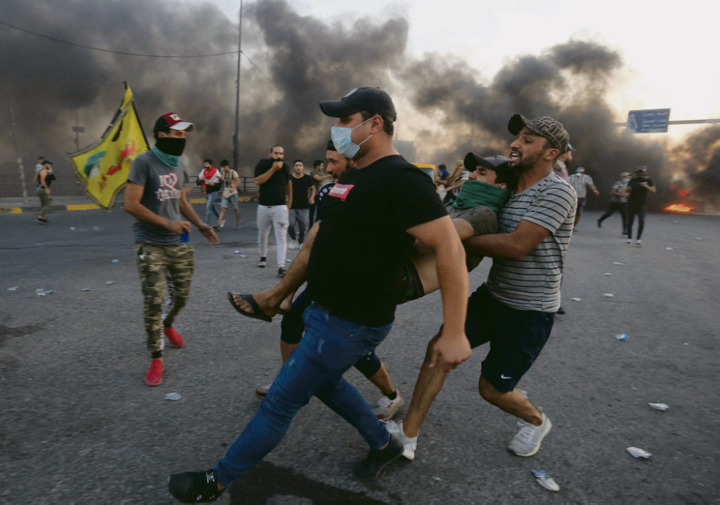 В Ираке прошли протестные акции молодёжи, выступавших с социальными требованиями и против клерикализации политики. Они были жестоко подавлены: 110 погибших, 4 000 раненых.