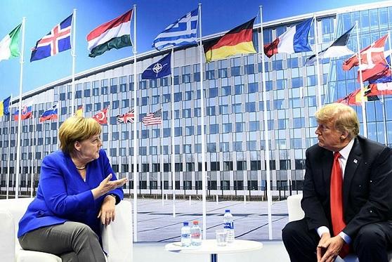 Президент США обвинил Германию в том, что она мало платит в бюджет НАТО, но при этом будет вкладываться в бюджет России путём покупки российского газа.