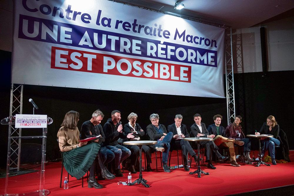 Вчера в Национальной ассамблее тринадцать политических организаций левых и экологов, к которым не присоединилась только «Франция непокорённая», представили свои предложения, альтернативные пенсионной реформе правительства.