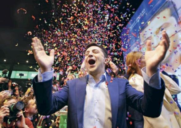 Владимир Зеленский был выбран президентом Украины с перевесом в 73,2 % голосов. Вообще-то картина не самая радостная: украинцы проголосовали за новичка без чёткой программы…