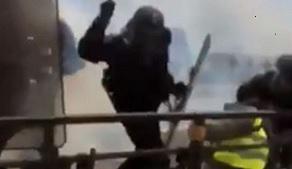 Однако то, что произошло в Кемпере в прошлую субботу во время XVII акта протестных акций «жёлтых жилетов» - было уже слишком. В прошлое воскресенье журналист Давид Дюфрень разместил у себя в Twitter шокирующее видео, собравшее 600000 просмотров