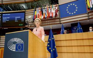 В первом выступлении на заседании Еврокомиссии, посвящённом положению дел в Европейском Союзе, в среду, её глава обрисовала основные направления своей политики.