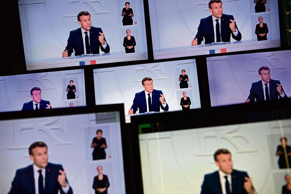 Вечером 14 октября президент Макрон представил ряд новых мер, включая введение комендантского часа в период с 21.00 до 06.00 в столичном регионе Иль-де-Франс и восьми других крупных агломерациях не менее чем на четыре недели начиная с 17 октября.