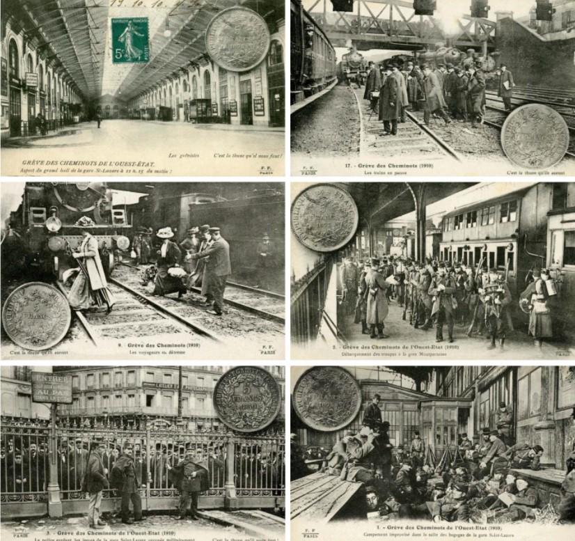 Профсоюзы были легализованы во Франции в 1884 году, однако профсоюз «Всеобщая конфедерация труда» (ВКТ) был создан только в 1895-м, объединив все существовавшие ранее организации. Опираясь первоначально на Национальный профсоюз работников железных дорог, а также на Федерацию работников книги, ВКТ вышел на ведущие позиции только в 1902 году, когда к нему присоединились межпрофессиональные биржи труда.