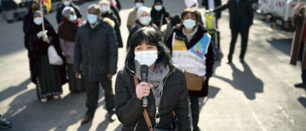 Забастовка уборщиков Париже
