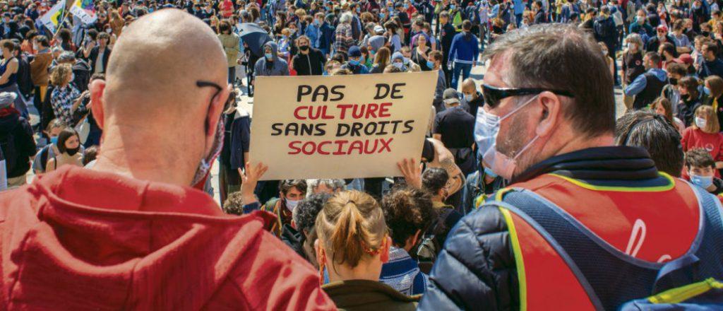 Международная солидарность трудящихся на Первомае в Лионе